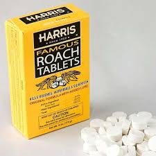 Use cockroach poison to get rid of cockroaches.