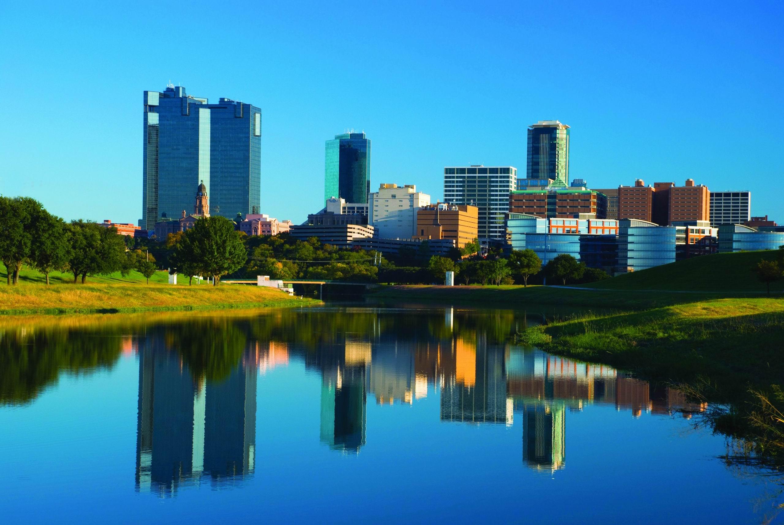 Fort Worth, Texas skyline | UTA Libraries Digital Gallery